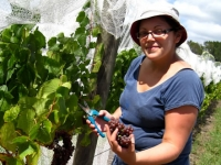 Christina with the Pinot Gris