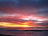 Okarito beach sunset