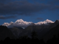 Dusk views of Mt. Cook