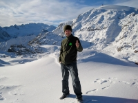 Standing at the top of Fox Glacier