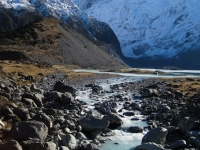 Hiking toward Mt. Cook