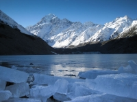 Glacial Lake and Mt. Cook