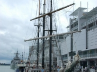 Ship in Auckland's viaduct harbour