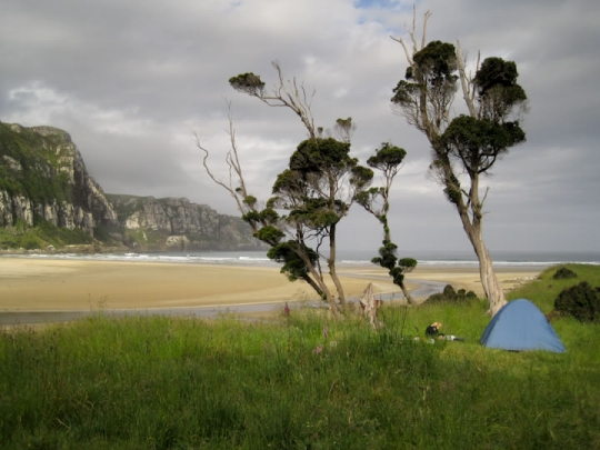Camping in paradise